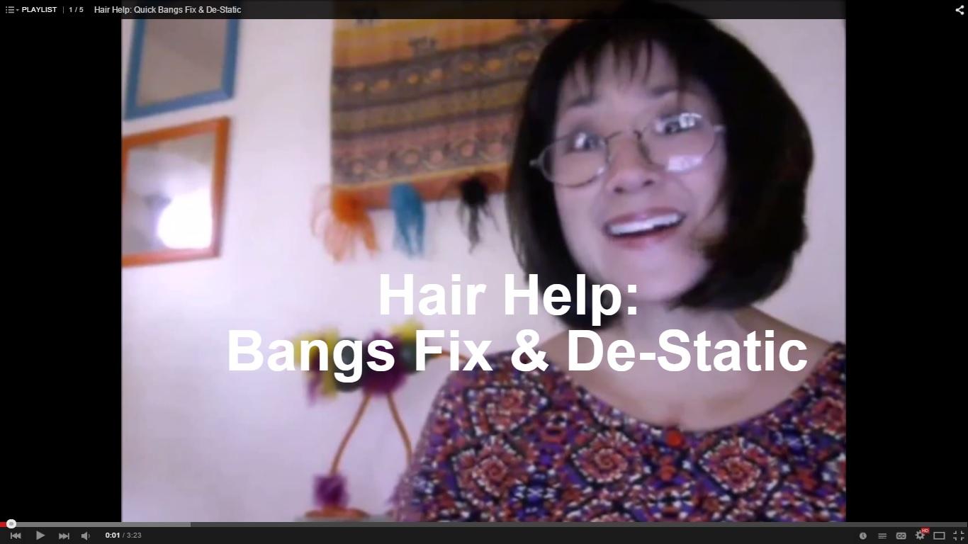 Hair Help: Quick Fix Bangs & De-Static
