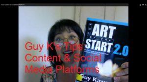 Guy K: Content on Social Media Platforms